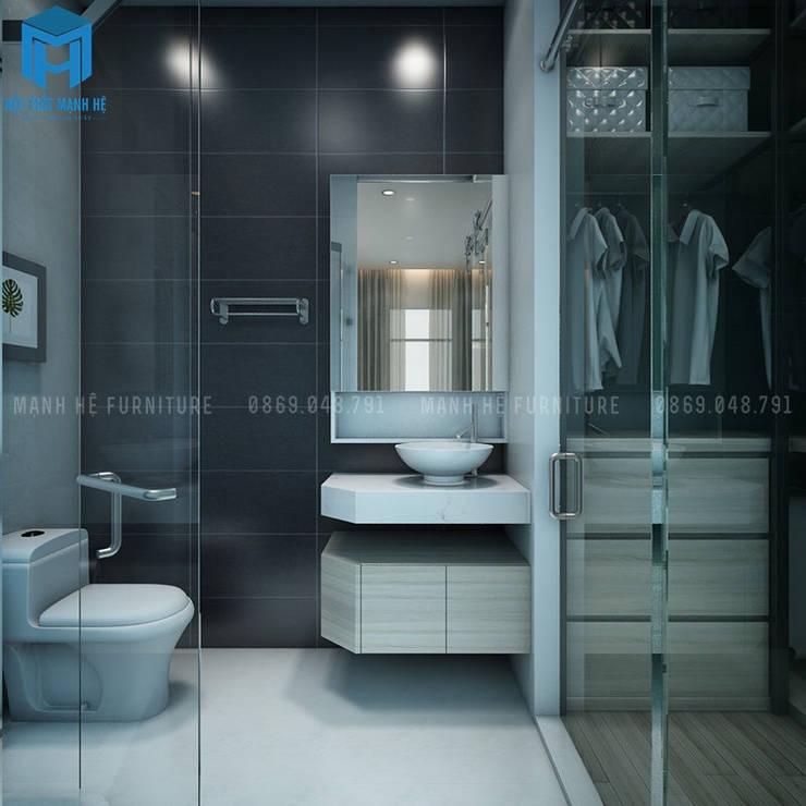 Nhà tắm hiện đại và thông minh:  Phòng tắm by Công ty TNHH Nội Thất Mạnh Hệ