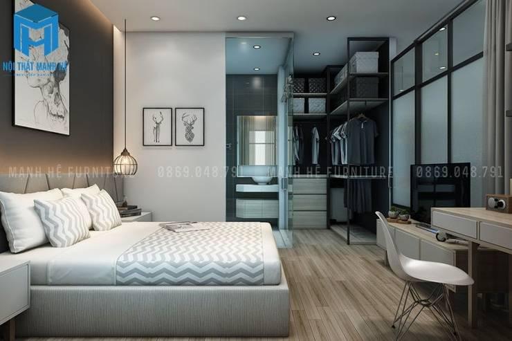 Trang trí phòng ngủ bằng khung tranh khá đẹp và tinh tế:  Phòng ngủ by Công ty TNHH Nội Thất Mạnh Hệ