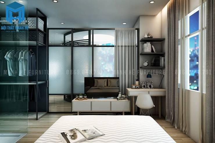 Nội thất phòng ngủ hiện đại và tinh tế:  Phòng ngủ by Công ty TNHH Nội Thất Mạnh Hệ