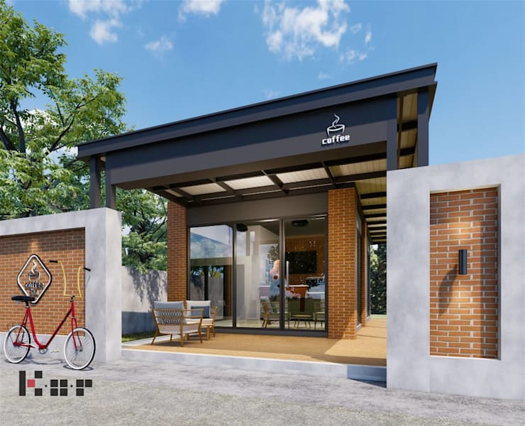 Coffee shop จ.ลำปาง:  บ้านขนาดเล็ก by Kor Design&Architecture