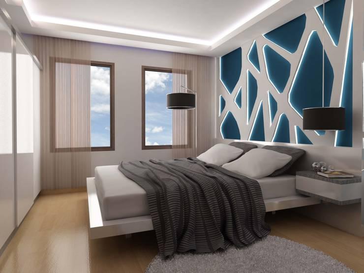 ANTE MİMARLIK  – Baz Villa:  tarz Yatak Odası
