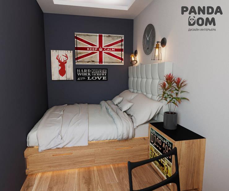 Маленький лофт.: Маленькие спальни в . Автор – дизайн-студия PandaDom