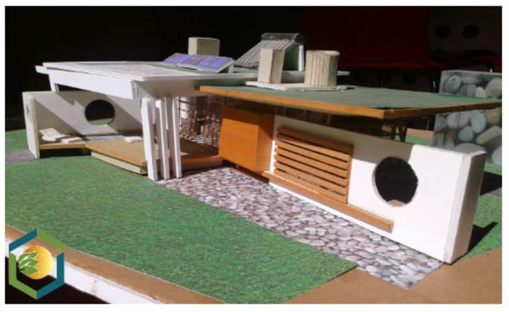 Casas: Casas de campo de estilo  por eco cero - Arquitectura sustentable en Talca