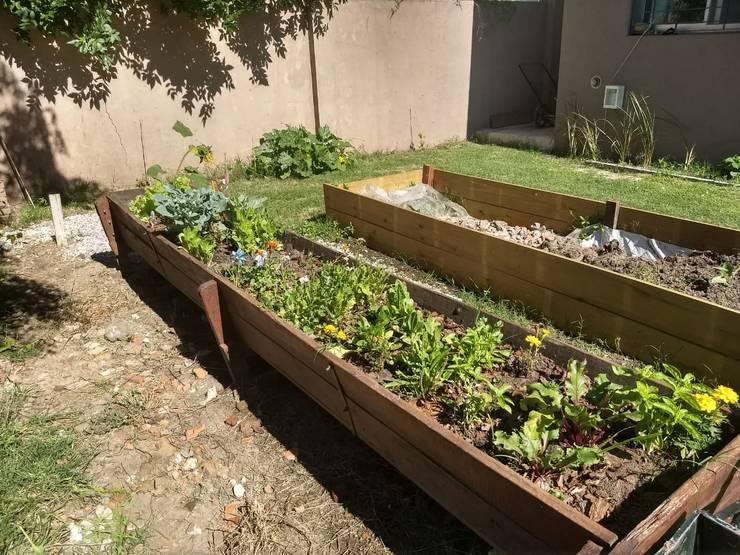 huerta al frente: Jardines en la fachada de estilo  por ECOS DE SOL (Ingeniería y Construcción),