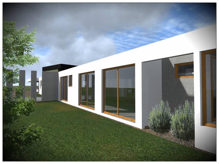 VIVIENDA RURAL CONTEMPORÁNEA PANEL SIP: Casas unifamiliares de estilo  por Vicente Espinoza M. - Arquitecto