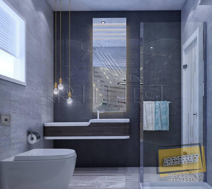 مشروع فيلا القاهره الجديدة:  حمام تنفيذ Archeffect, حداثي