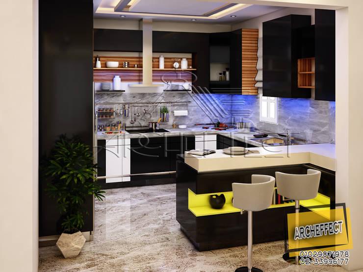 مشروع فيلا القاهره الجديدة:  مطبخ تنفيذ Archeffect