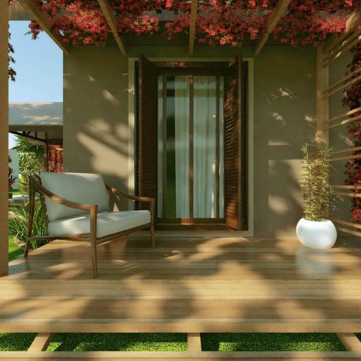 Projekty,  Dom rustykalny zaprojektowane przez Cíntia Schirmer | Estúdio de Arquitetura e Urbanismo