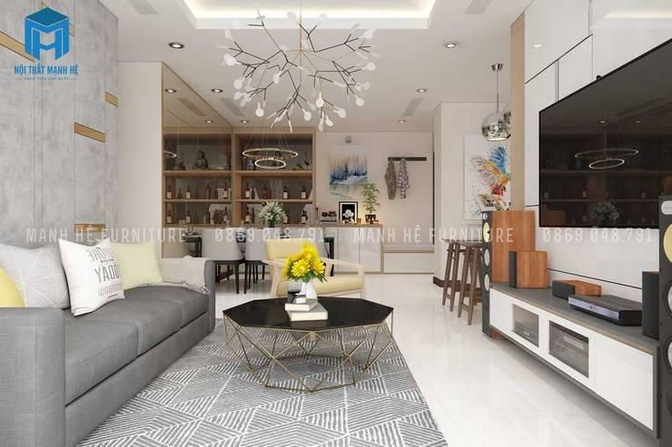 Nội thất phòng khách hiện đại và sang trọng:  Phòng khách by Công ty TNHH Nội Thất Mạnh Hệ