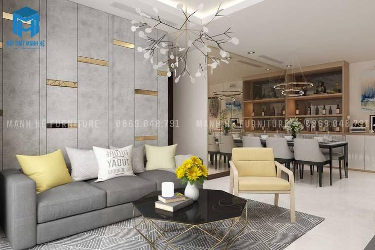 Thiết kế không gian phòng khách trang trọng và sang chảnh:  Phòng khách by Công ty TNHH Nội Thất Mạnh Hệ