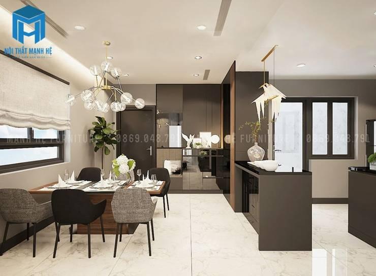 Nội thất phòng ăn sang trọng:  Phòng ăn by Công ty TNHH Nội Thất Mạnh Hệ