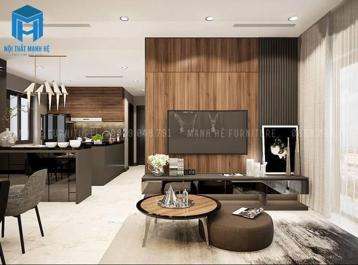 Thiết kế nội thất phòng bếp đầy sang trọng và đẳng cấp:  Phòng khách by Công ty TNHH Nội Thất Mạnh Hệ