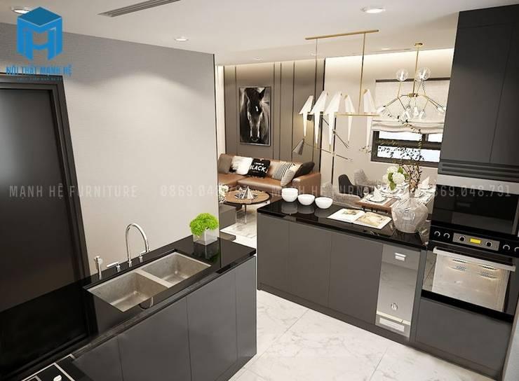 Hệ thống tủ bếp hiện đại và sang trọng:  Phòng ăn by Công ty TNHH Nội Thất Mạnh Hệ
