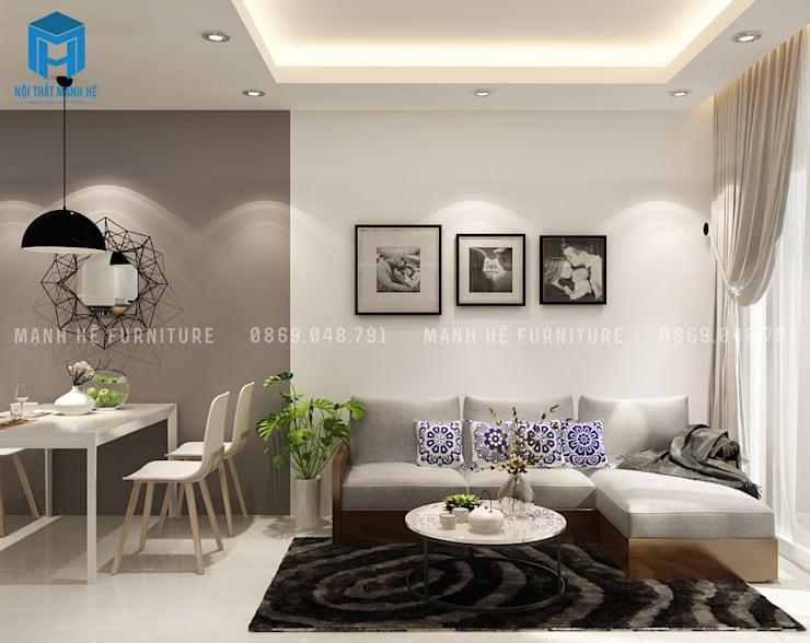 غرفة المعيشة تنفيذ Công ty TNHH Nội Thất Mạnh Hệ