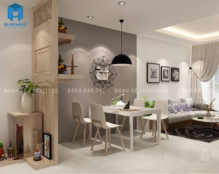 Dining room by Công ty TNHH Nội Thất Mạnh Hệ