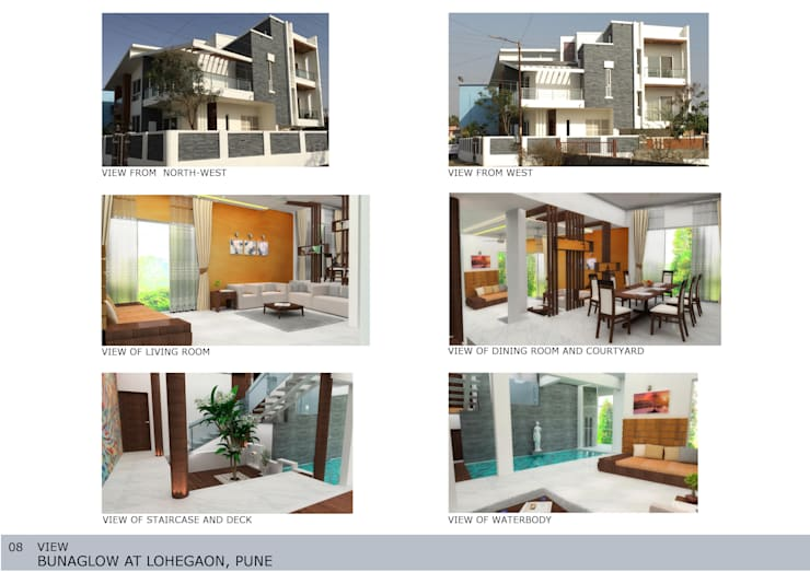 Casas de estilo asiático de GREEN HAT STUDIO PVT LTD Asiático Ladrillos