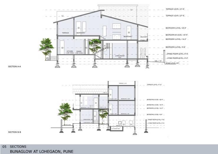 Casas de estilo asiático de GREEN HAT STUDIO PVT LTD Asiático