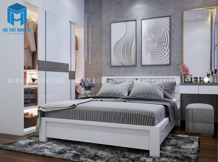 Nội thất phòng ngủ sang trọng và hiện đại:  Phòng ngủ by Công ty TNHH Nội Thất Mạnh Hệ