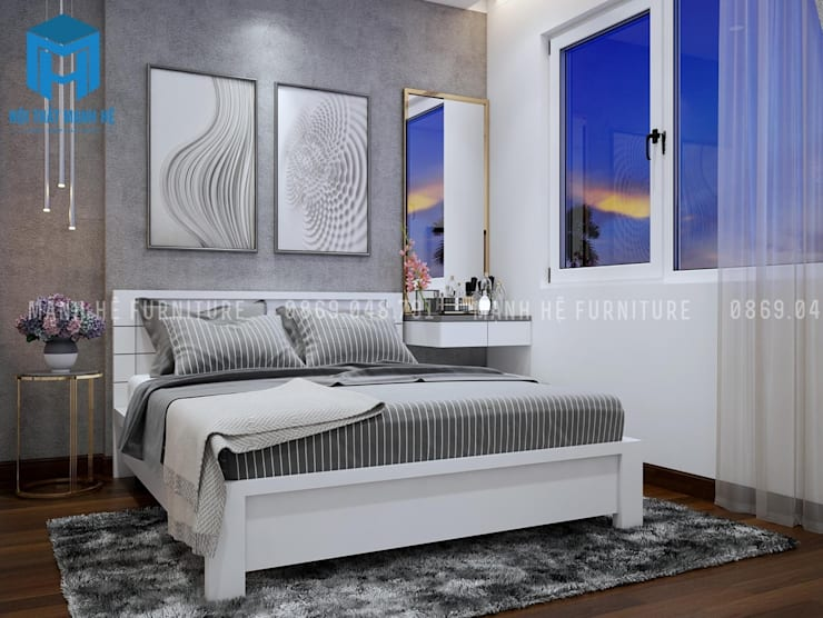 Phòng ngủ được trang trí bằng tranh :  Phòng ngủ by Công ty TNHH Nội Thất Mạnh Hệ