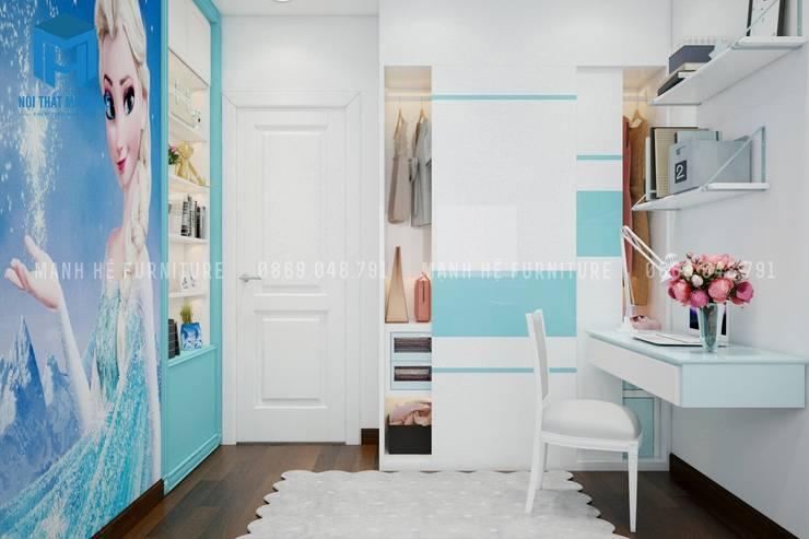 Nội thất phòng ngủ nhỏ hiện đại:  Phòng ngủ nhỏ by Công ty TNHH Nội Thất Mạnh Hệ