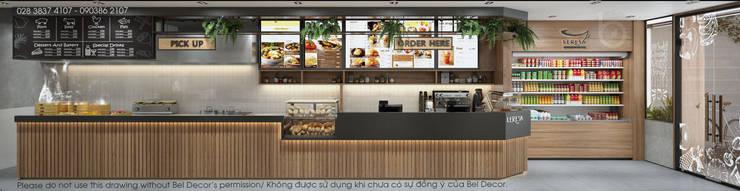 THIẾT KẾ NỘI THẤT COFFEE SHOP (PR1812):   by Bel Decor