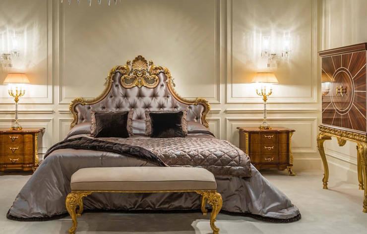 OAK家具古典工藝設計,客廳臥室雙人床 :  臥室 by 北京恒邦信大国际贸易有限公司
