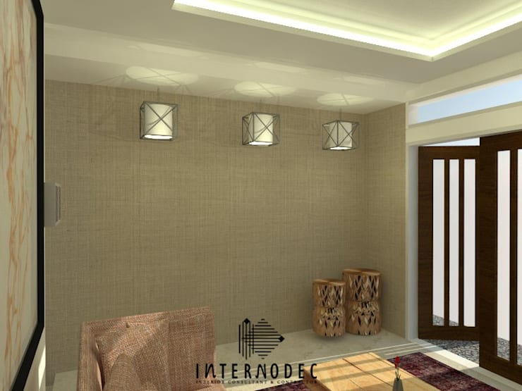 Private Residence Mr. AD:  Ruang Keluarga by Internodec