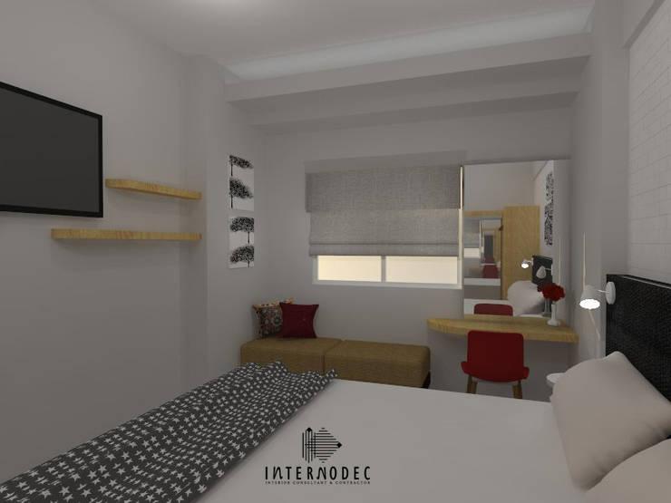 Minimalis Apartment Mrs. LK :  Ruang Kerja by Internodec