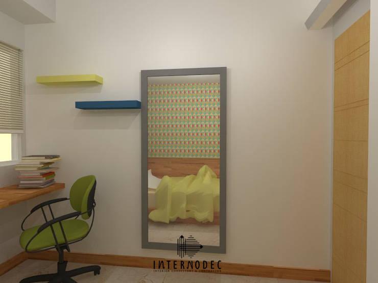 Minimalis Apartment Mrs. LK :  Kamar tidur anak by Internodec