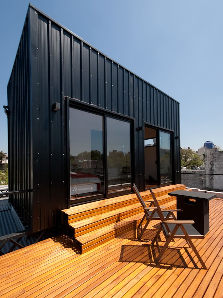 Ampliación Boutique Guest House :  de estilo  por Javier di Michele, Arquitecto,