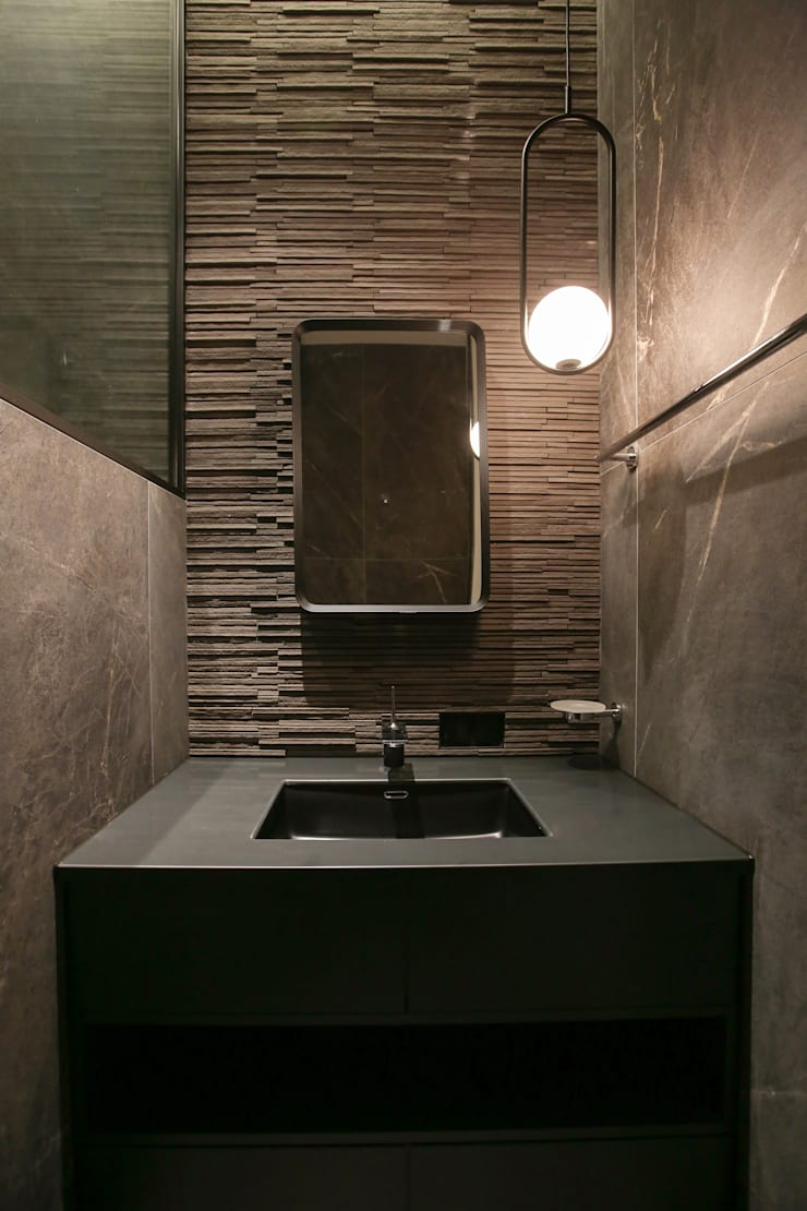 가족욕실,세면공간: 다빈710의  욕실,모던 타일
