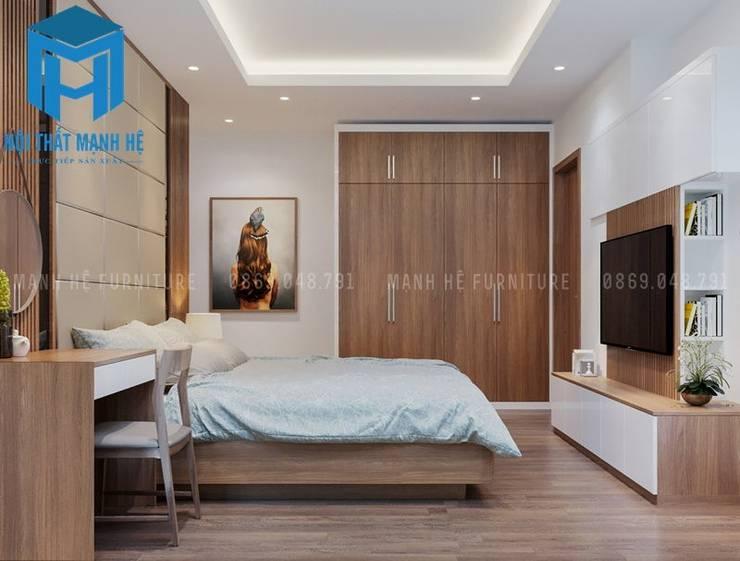 Nội thất phòng ngủ 1:  Phòng ngủ by Công ty TNHH Nội Thất Mạnh Hệ