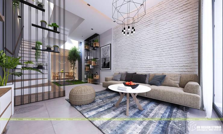 Nội thất phòng khách:  Phòng khách by UK DESIGN STUDIO - KIẾN TRÚC UK