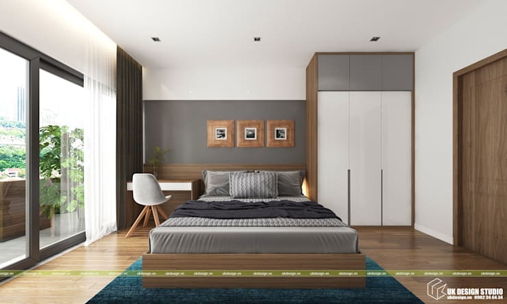 Nội thất phòng ngủ:  Phòng ngủ by UK DESIGN STUDIO - KIẾN TRÚC UK