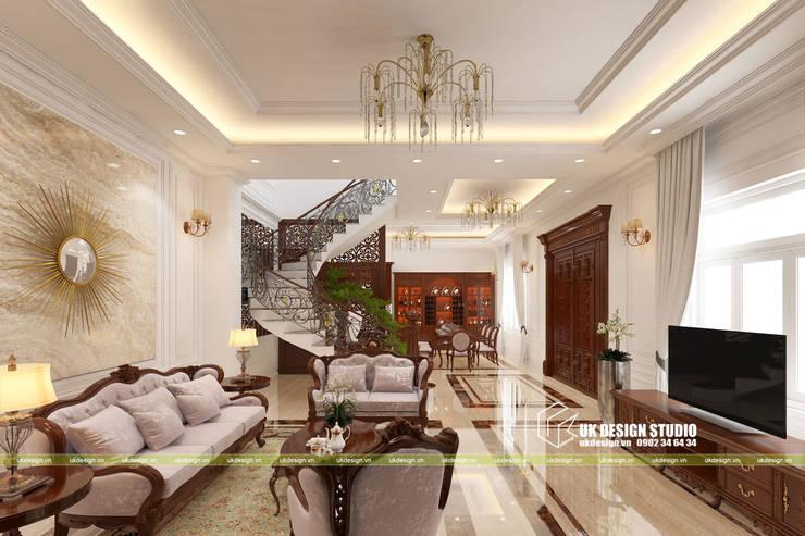 nội thất phòng khách :  Phòng khách by UK DESIGN STUDIO - KIẾN TRÚC UK
