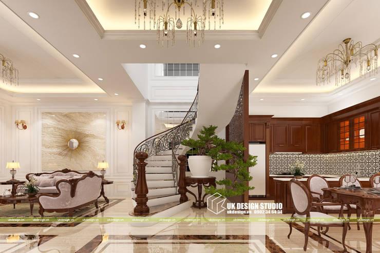 Thiết kế cầu thang:  Cầu thang by UK DESIGN STUDIO - KIẾN TRÚC UK