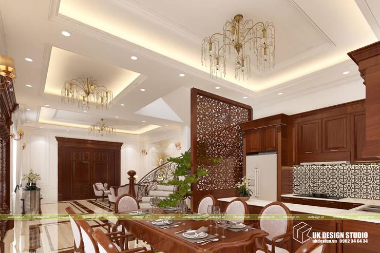 Thiết kế nội thất phòng ăn:  Phòng ăn by UK DESIGN STUDIO - KIẾN TRÚC UK