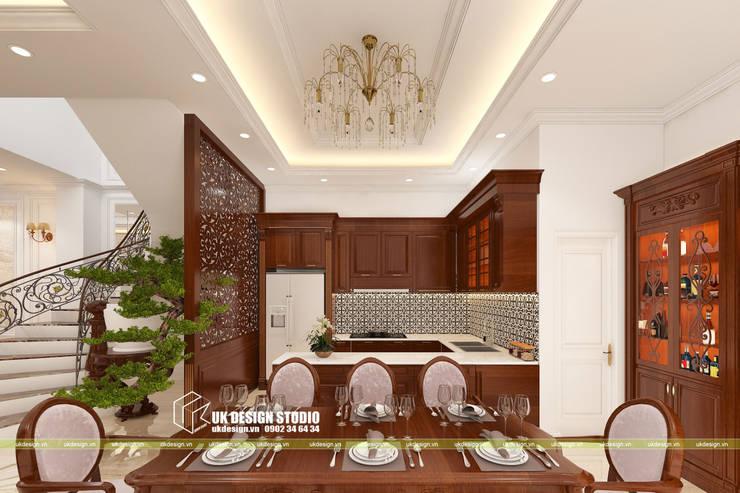 Thiết kế nhà bếp:  Bếp nhỏ by UK DESIGN STUDIO - KIẾN TRÚC UK