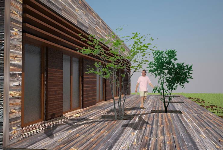 CASA CAMINO A CABREROS: Casas ecológicas de estilo  por ARQUITECTURA Y CONSTRUCCIÓN VERDE