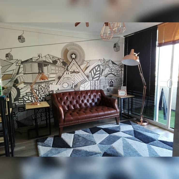 Depto Teatinos: Livings de estilo  por Indesoul