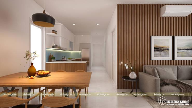 Thiết kế phòng ăn:  Phòng ăn by UK DESIGN STUDIO - KIẾN TRÚC UK