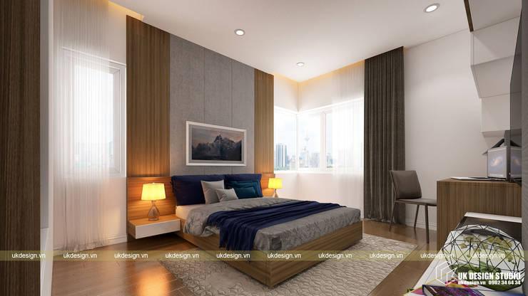 Thiết kế phòng ngủ:  Phòng ngủ by UK DESIGN STUDIO - KIẾN TRÚC UK