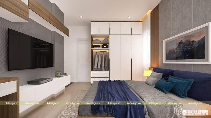 Thiết kế phòng ngủ:  Phòng ngủ nhỏ by UK DESIGN STUDIO - KIẾN TRÚC UK