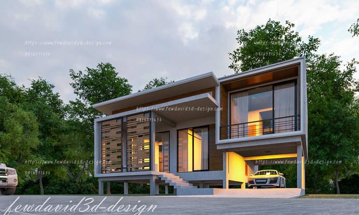 ผลงานออกแบบบ้านชั้นครึ่งเล่นระดับ จ.นนทบุรี :   by fewdavid3d-design