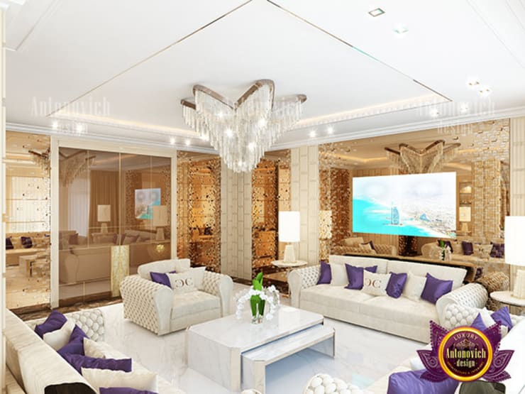 "Luxurious and Elegant Living Room: {:asian=>""asian"", :classic=>""classic"", :colonial=>""colonial"", :country=>""country"", :eclectic=>""eclectic"", :industrial=>""industrial"", :mediterranean=>""mediterranean"", :minimalist=>""minimalist"", :modern=>""modern"", :rustic=>""rustic"", :scandinavian=>""scandinavian"", :tropical=>""tropical""}  by Luxury Antonovich Design,"