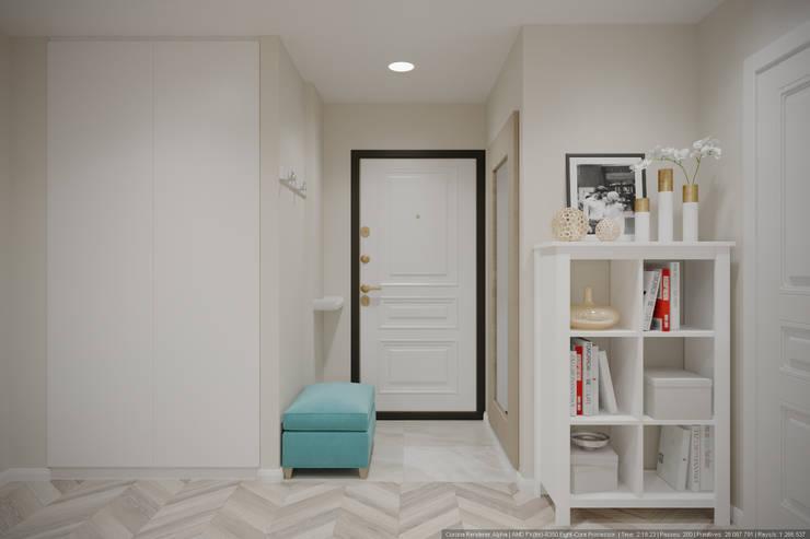 Однокомнатная квартира в которой есть всё: Коридор и прихожая в . Автор – дизайн-бюро ARTTUNDRA