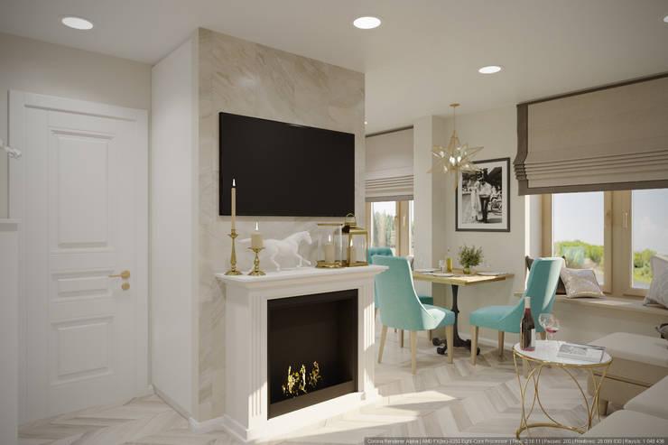 Однокомнатная квартира в которой есть всё: Гостиная в . Автор – дизайн-бюро ARTTUNDRA