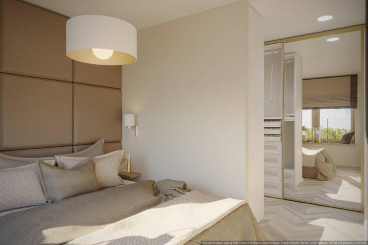 Однокомнатная квартира в которой есть всё: Спальни в . Автор – дизайн-бюро ARTTUNDRA