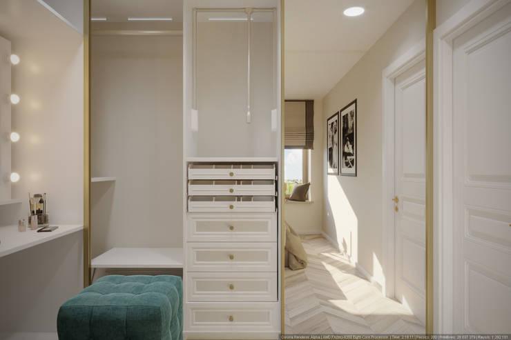 Однокомнатная квартира в которой есть всё: Гардеробные в . Автор – дизайн-бюро ARTTUNDRA