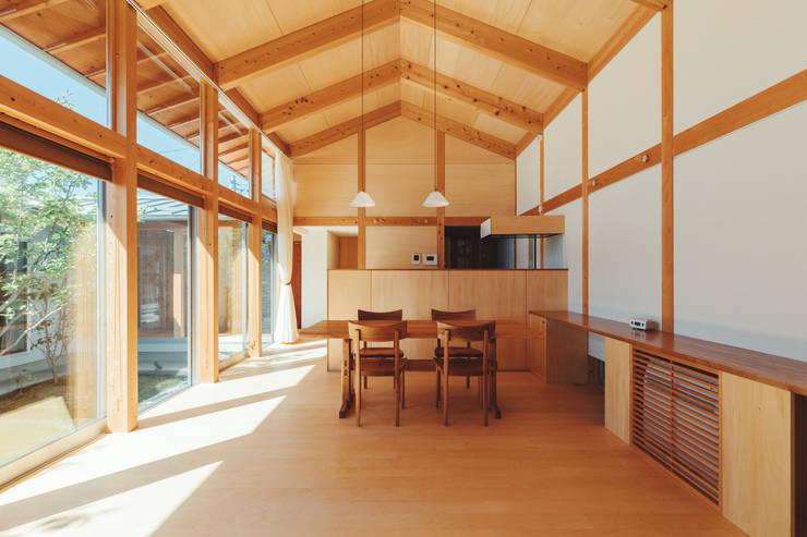 Projekty,  Jadalnia zaprojektowane przez 稲山貴則 建築設計事務所